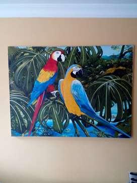 Pintura al Oleo (Papagayos)