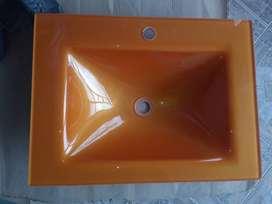Lavamanos en cristal duplex tipo placa o poseta