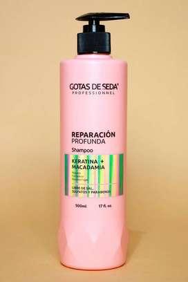 Shampoo Reparación Profunda Gotas de Seda 500ml