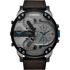 Reloj Diesel Mr. Daddy 2.0 Dz7420 Cuero Gris Humo 4 Cronos