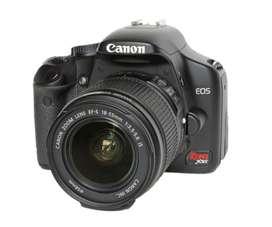 Cámara Canon EOS Xsi, flash incorporado, modo manual