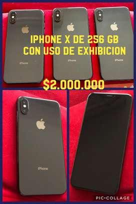 Iphone x de 256gb con uso super precio factura legal