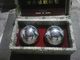 SET MASAJES: esferas chinas, rodillo y gel