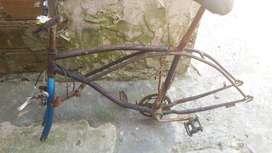 cuadro bici playera
