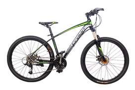 Bicicleta Crolan Rin 27.5 Pulgadas MTB Suspensión Con Bloqueo