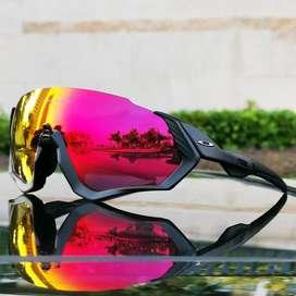 Gafas ciclismo oakley medio marco negras