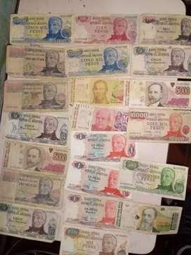 Billetes antiguos pesos argentinos y australes