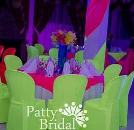 Vestidos sillas rimax color neon
