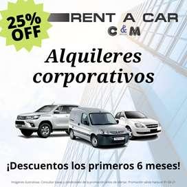 Alquileres vehículos corporativos para empresas