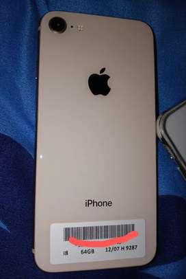iPhone 8 dorado de 64 gbs precio negociable