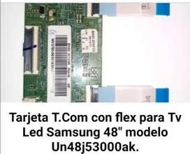 Tarjeta t. Como con flex para Tv samsung LED 48 modelo Un48j53000aK