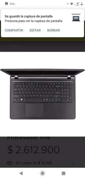 Oferta portátil 15 pulgadas. Acer aspire ES1-572 Series.