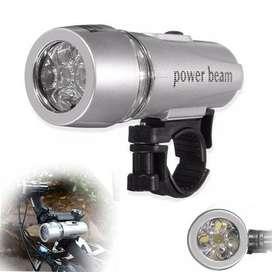 Linterna frontal para bicicleta 5 LED