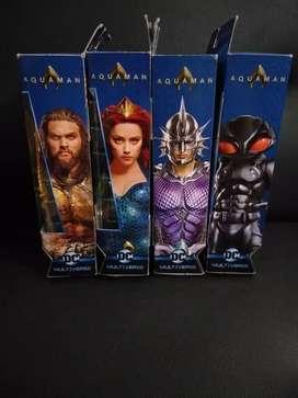 Serie completa de aquaman, Mera, Orm y Black manta de dc multiverse.