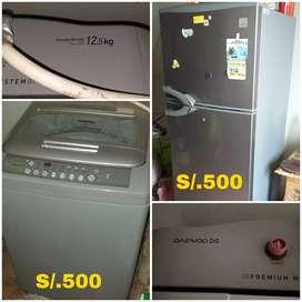 Vendo lavadora y refrigeradora