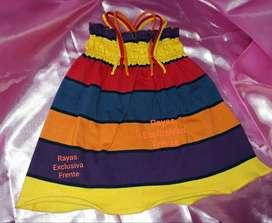 Vestidito BEBA . Jersey algodòn rayas exclusivas