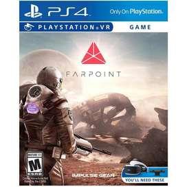 FARPOINT VR PS4 JUEGO FISICO Y ORIGINAL ENTREGA INMEDIATA