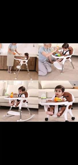 Silla comedor de lujo bebé 4 en 1