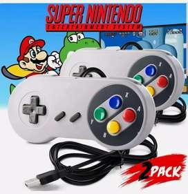 Mandos Controles de Super Nintendo + DvD con todos los juegos