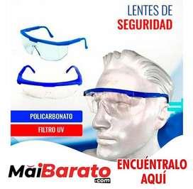 Lentes de seguridad de policarbonato y filtro UV