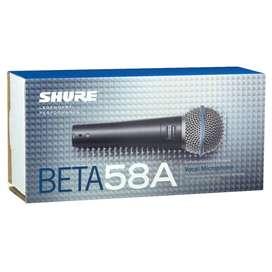 micrófono Shure Beta 58A,supercardioide,nuevo en  caja.