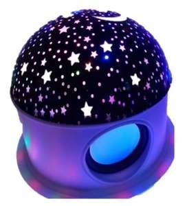 Lampara Proyector Con Bluetooth Estrellas Luna
