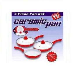 Gratis Envio Juego de Sartenes Ceramic Pan 5 piezas