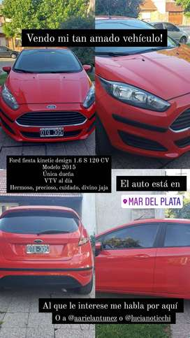 Ford fiesta S IMPECABLE única mano 48000 km