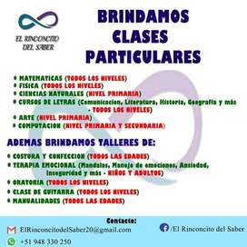 Damos Clases particulares!