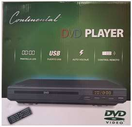 REPRODUCTOR DVD / DVD PLAYER - PUERTO USB Y PANTALLA LED - CONTINENTAL