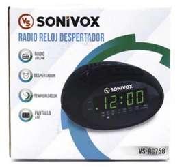 Radio Reloj Despertador digital LCD sonivox