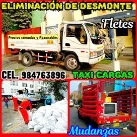 SERVICIO DE RECOJO DESMONTE Y ELIMINACION DE DESMONTE // MUDANZAS Y TAXI CARGAS TODOS LOS DIAS BRINDMOS A PRECIOS BARATO