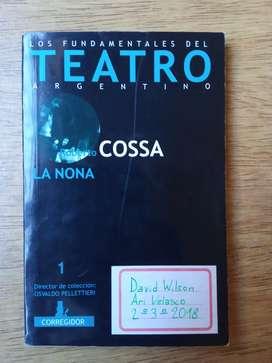 """Libro """"La nona"""" de Roberto Cossa"""
