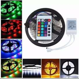 Cinta Led  Rgb Multicolor Con Adaptador Y Control