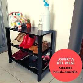 Mesa Auxiliar para Zapatos y elementos de Desinfección