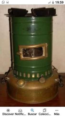 Antigua estufa calentador