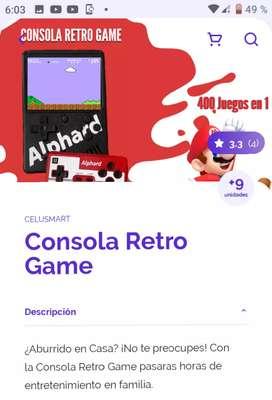 Consola retro game