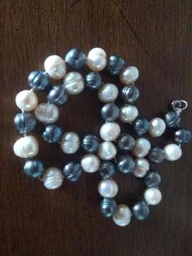 Perlas Naturales Grandes Collar Hermoso