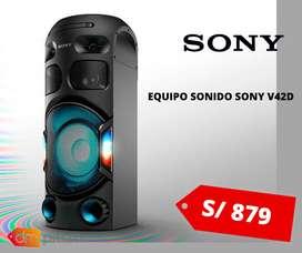 EQUIPO SONIDO SONY MHC-V42D NUEVO