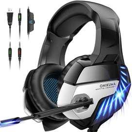 Auriculares Onikuma Ps4 -xbox One Con Microfono Y Luz Led