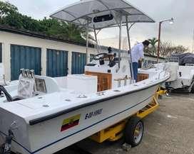VENDO BOTE DE 20 PIES, Casco MAKO,MOTOR YAMAHA 4 tiempos, Con TRailer, con equipo navegacion GARMIN