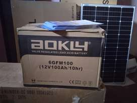 Batería agm gel aokly 100amp solar