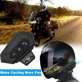 INTERCOMUNICADOR MOTO BT12 Tecnología Bluetooh V4.2 Casco Auricular Manos libre Motociclista +Envio Gratis