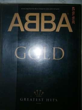 ABBA!! Album Gold, versiones para piano, voz y acordes d guitarra