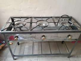 Remate de Cocina Semi Industrial 3 hornillas