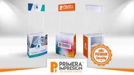 STANDS PUBLICITARIOS DE PVC PREMIUM - DEGUSTADORES - LLAMA YA (04) 3726260