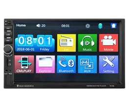Equipo Radio Carro Doble Din Bluetooth 2 Din Mirror Link 7