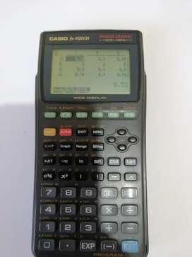 Calculadora Casio 9700 GH graficadora matrices polinomios simultáneas y más
