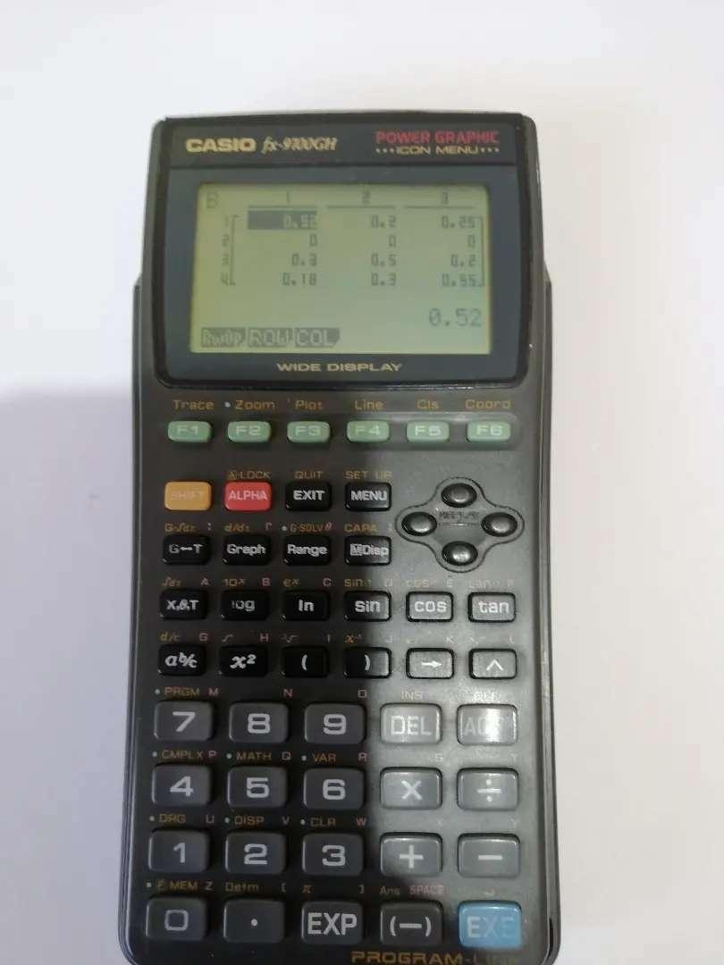 Calculadora Casio 9700 GH graficadora matrices polinomios simultáneas y más 0