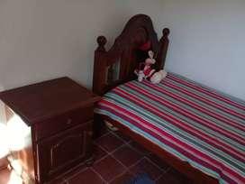 Vendo cama y mesa de luz
